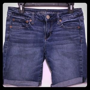 American Eagle Denim Bermuda Shorts Size 8